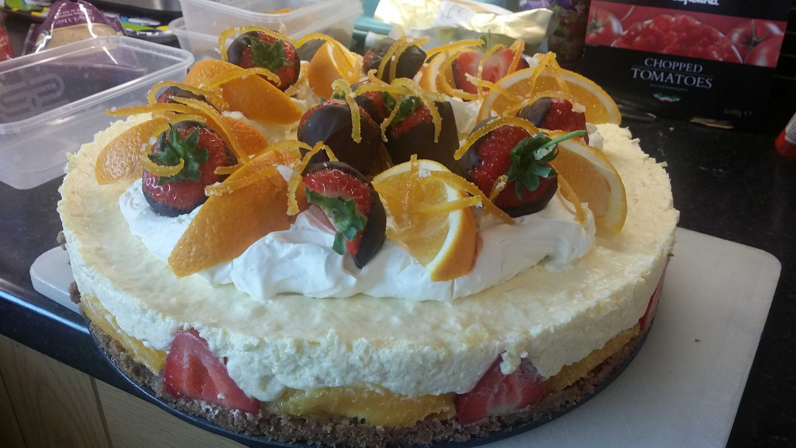 Strawberry & Orange Cheesecake