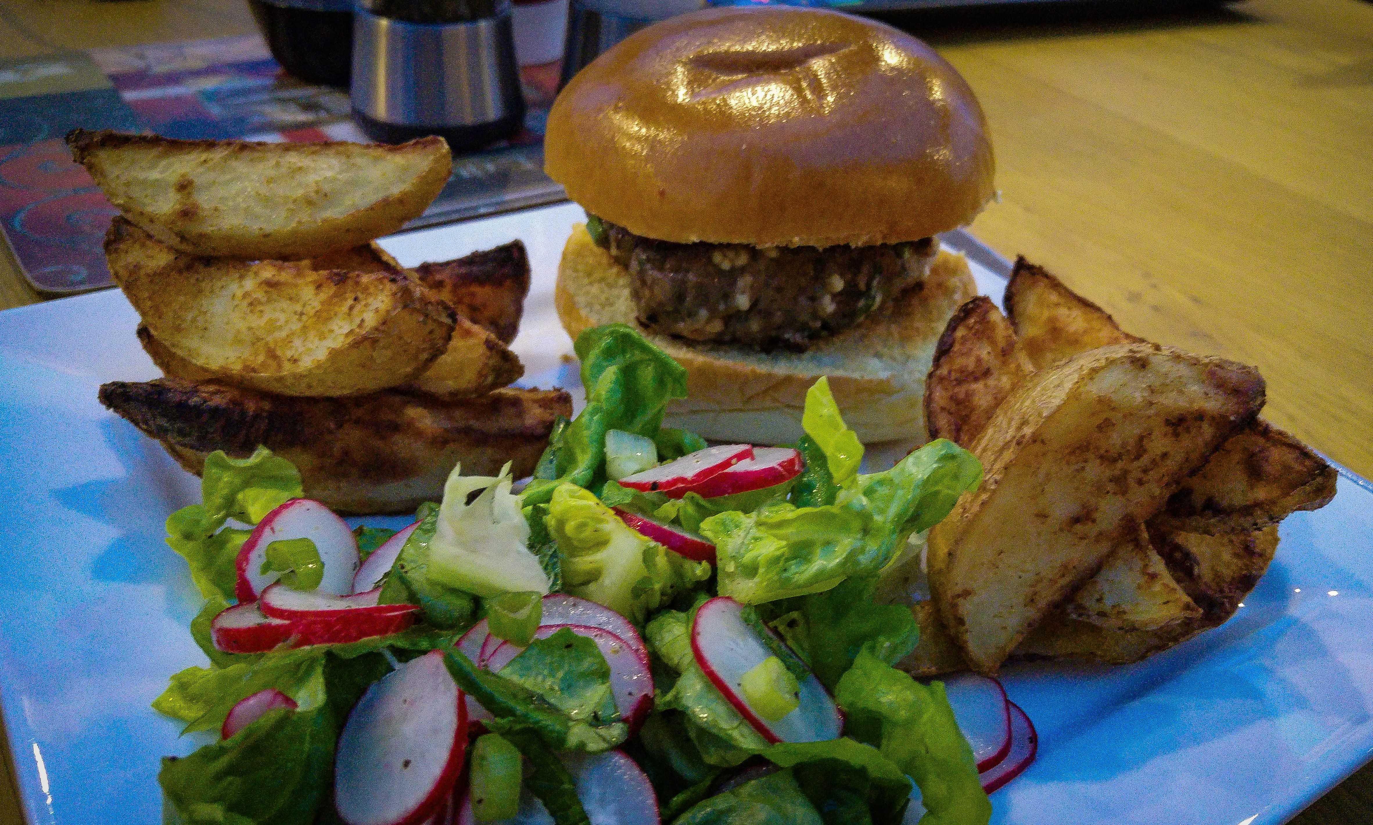 Lamb & Feta Brioche Burger